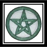 Stitched pentagram