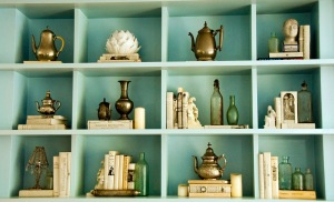 bookshelves coco rocha in vogue