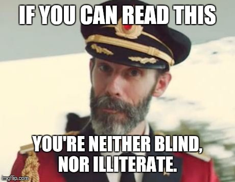 Captain Obvious Reading